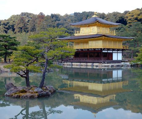 Japan temple of the Golden Pavillon Kinkanku