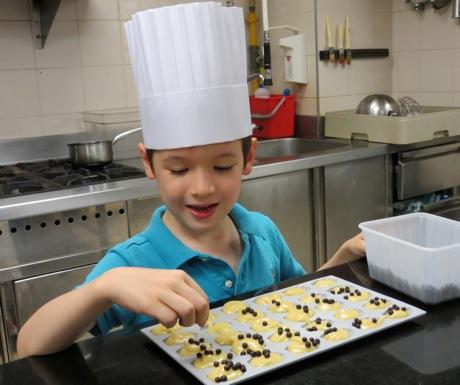 Kids pastry lesson at Four Seasons George V Paris