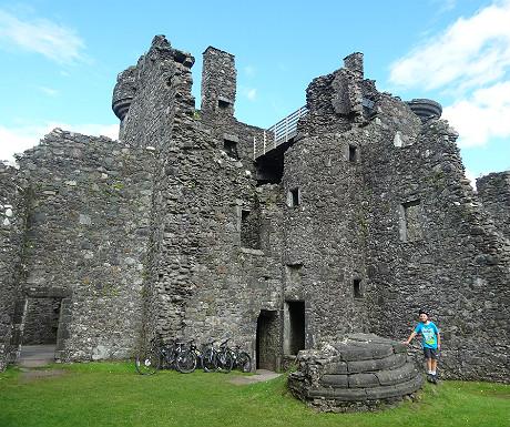 Kilchurn Castle lightning damage
