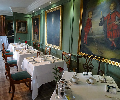 Kinloch Lodge dining room