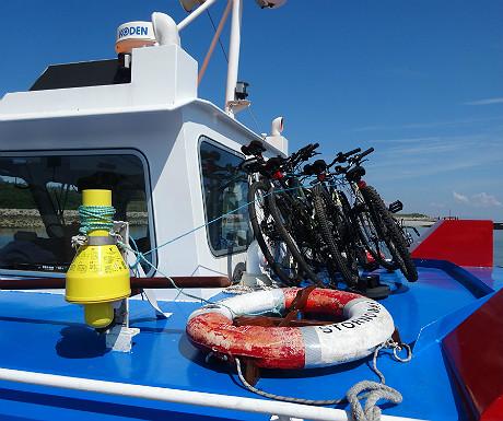 MV Sheerwater with bikes