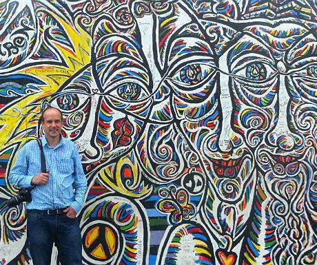 Me outside the Berlin Wall