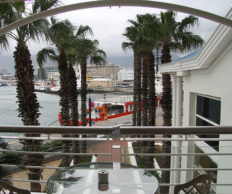 Table Bay Hotel balcony view