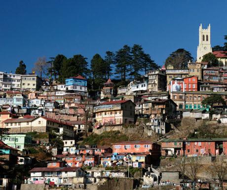 The Kalka toy train finishes in Shimla