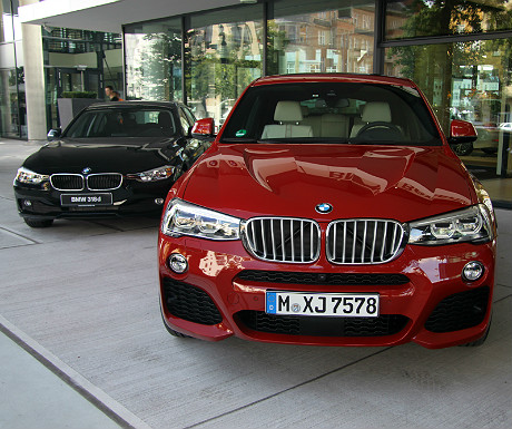 The X4 at BMW headquarters