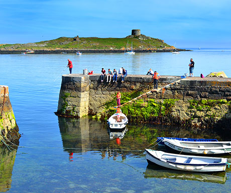 Coliemore Harbour with Dalkey Island in the background
