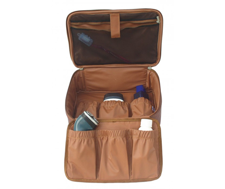 Piel Leather Pastel Collection-Hanging Cosmetic Utility Kit