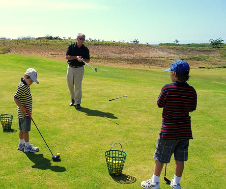 Intercontinental Golf & Spa Resort Fiji - golfing kids