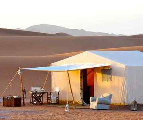 Morocco desert luxury tent