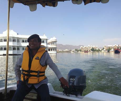 Taj Lake Palace - boat tour