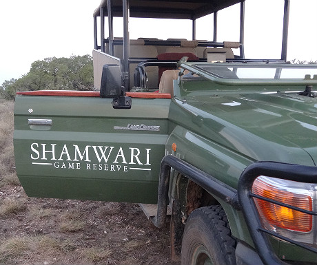 Vehicles at Shamwari
