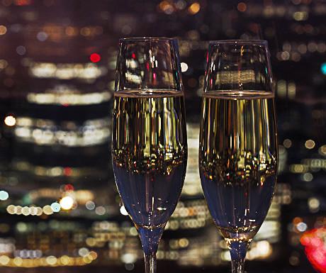 Champagne at Vertigo 42