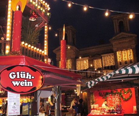 German Christmas market, Gluhwein