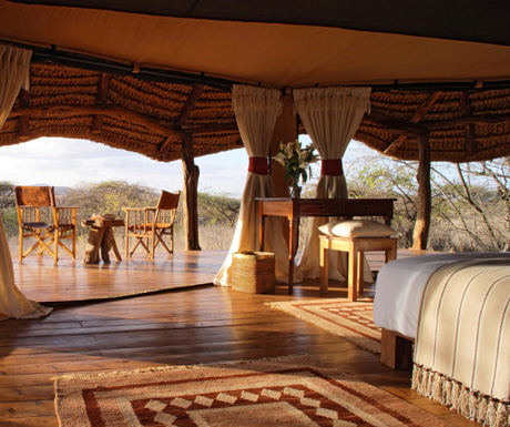 Lewa Safari Camp tent interior