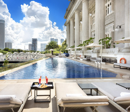 The Fullerton Hotel swimming pool