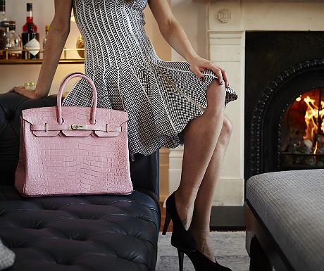 Birkin bag in bubblegum pink