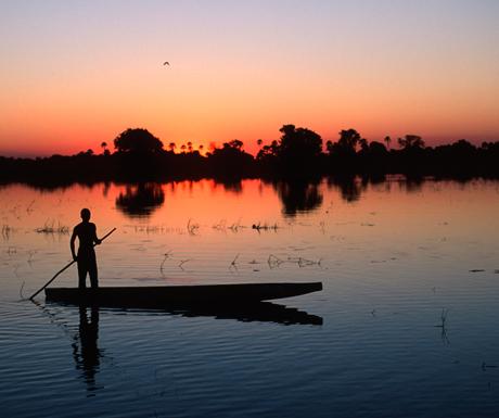 Boat safari in Botswana