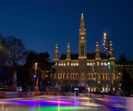 Ice skating rink Vienna Austria