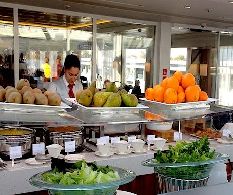 Lots of fresh fruits and veggies