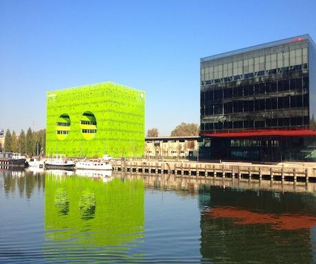 Lyon hip urban riverscape