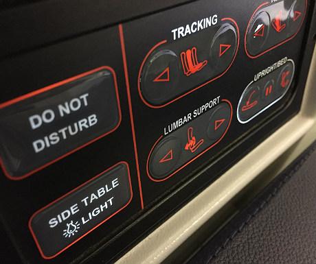 ANA seat controls