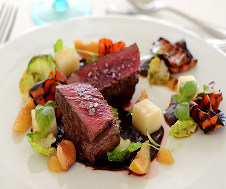 Beef fillet with chocolate