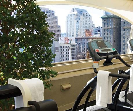 Gym at Taj Campton Place