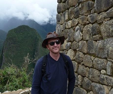 Larry Klimczyk at Machu Pichu
