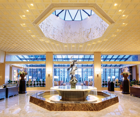 Lobby at the Ritz Carlton Chicago