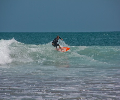 Surfer on Mancora, Peru