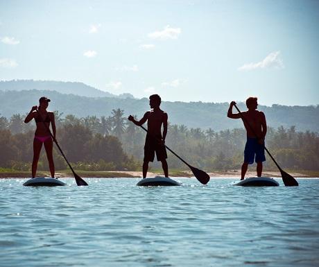 Paddle boarding, Nihiwatu