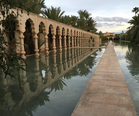 Palais Namaskar walkway