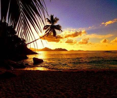 Sunrise from Anse Severe La Digue