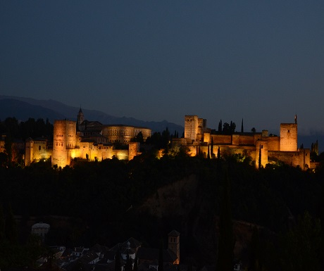 View of Alhambra and Sierra Nevada