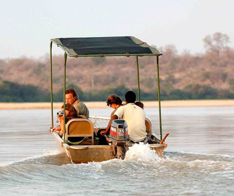 Boat safaris on the Rufiji River