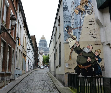 Brussels Comic Mural
