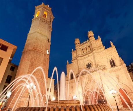 Cathedral and Fadri tower at Castellon de la Plana