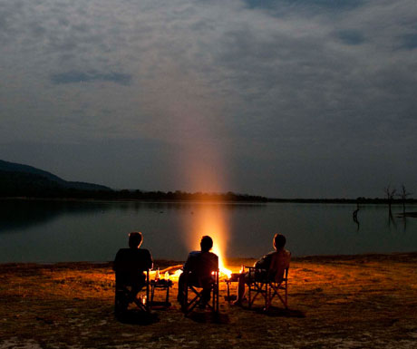 Dinner in the bush in Southern Tanzania