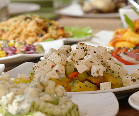 Healthy spa cuisine
