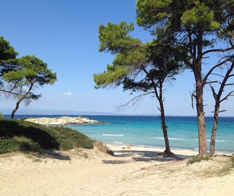 Karidi beach, around the corner from Ekies