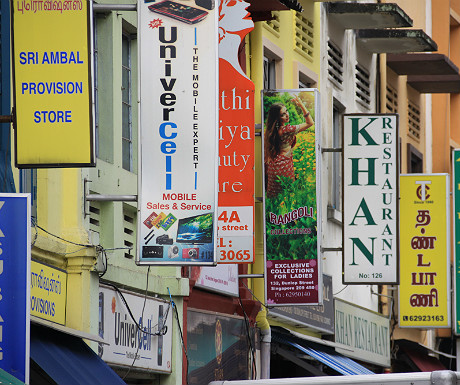Little India signs