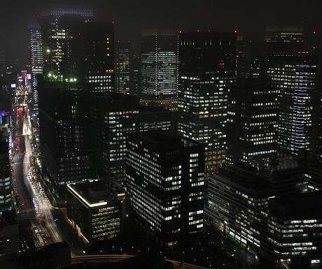 Mandarin Oriental Tokyo view at night