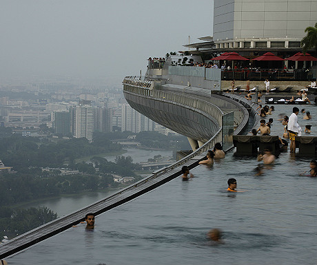 Marina Bay Sands Hotel swimming pool