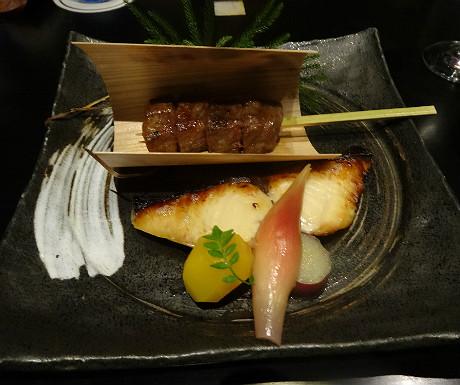 Mikuni Japanese wagyu beef and marinated mackerel