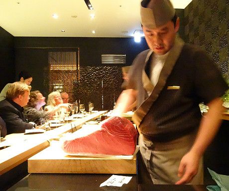 Sushi chef at the Mandarin Oriental