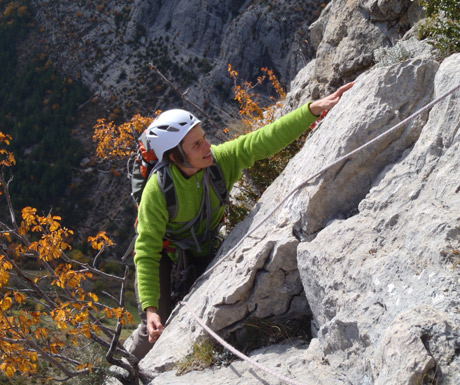 Climbing in the Alps in Autumn