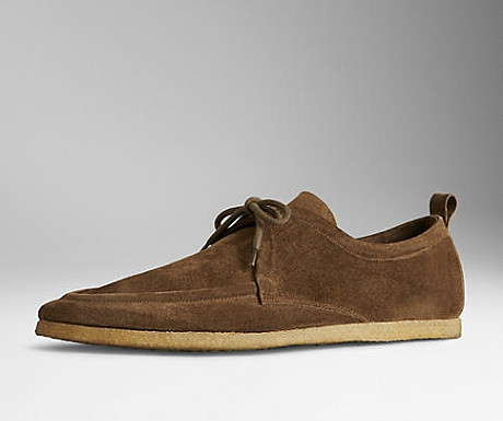 Crepe sole suede shoes from Burberry