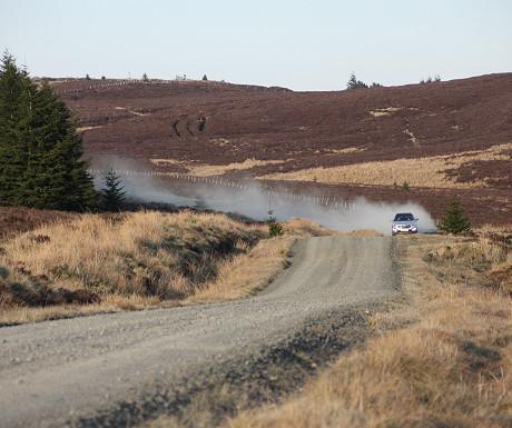 Gravel road through Kielder