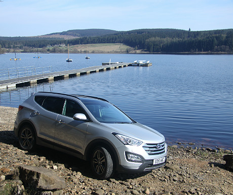 Hyundai Santa Fe at Kielder Water