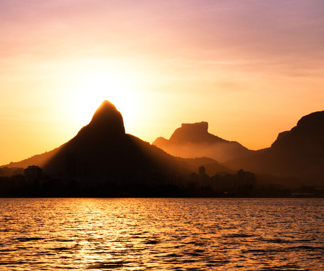 Lagoa Rodrigo de Freitas sunset